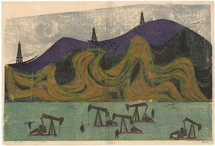 Antonio Frasconi, 'Petrolia, California - Oil and Toiled Land.', 1954