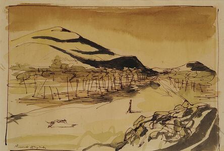 Sir Russell Drysdale, 'Landscape with Figure', 1949-1950