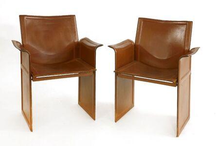 Tito Agnoli, 'A pair of Korium armchairs'