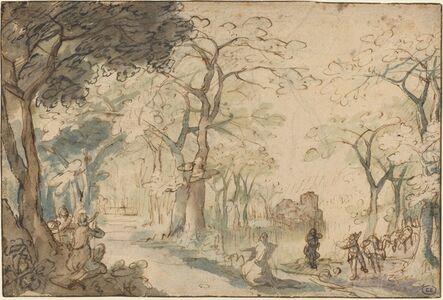 David Vinckboons, 'Landscape with Elisha Mocked', ca. 1610