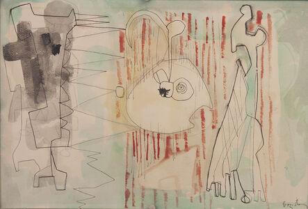 William Baziotes, 'Figures at a Curtain', 1947
