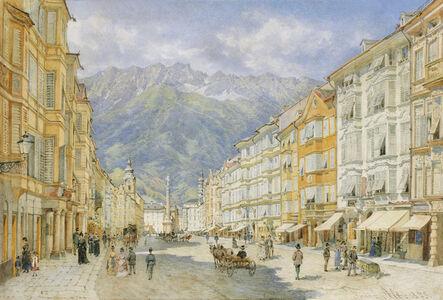 Franz Alt, 'The Maria Theresien Street in Innsbruck', 1873