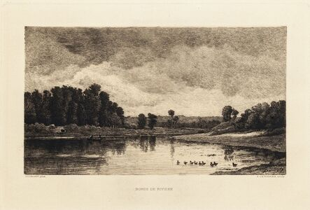 Charles François Daubigny, 'Bords de rivière', 1880