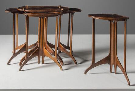 Eugene Gaillard, 'A set of five nesting tables', circa 1913