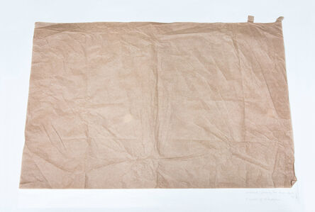 Ane Mette Hol, 'Untitled (Drawing for Four Objects #2), 2 sheets of silk paper', 2014