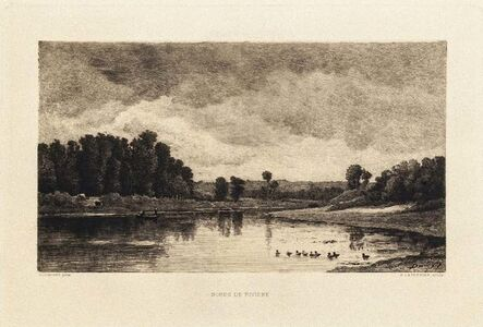 Charles François Daubigny, 'Bords de Rivière', 19th Century