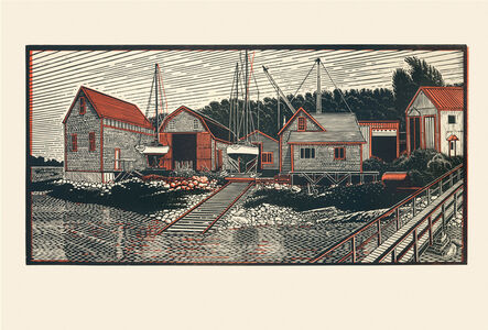 James Dodds, 'Benjamin River Boat Yard, Past and Present'