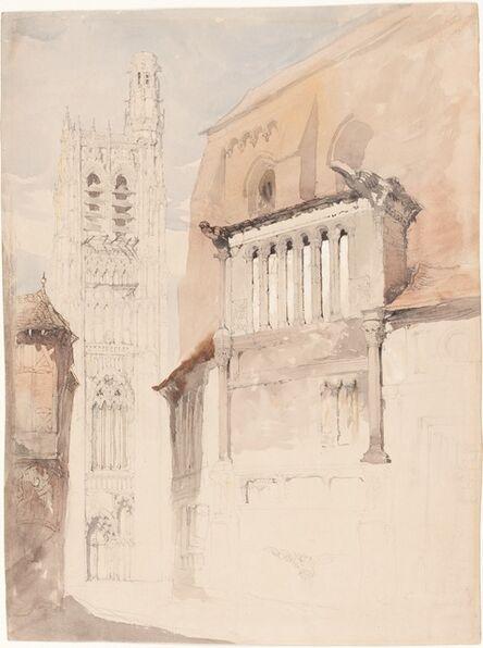 John Ruskin, 'Tower of the Cathedral at Sens', ca. 1845