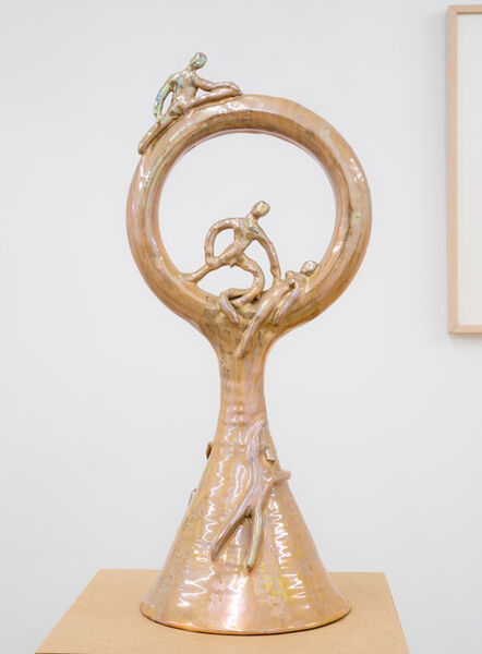 Beatrice Wood, 'Untitled (Large form with circular top)', ca. 1980