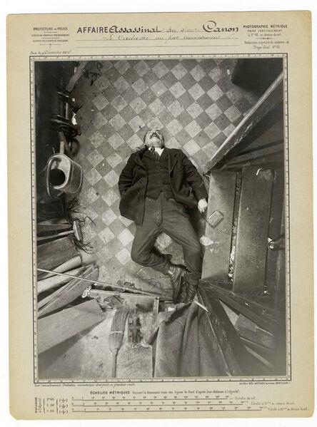Alphonse Bertillon, 'Murder of M. Canon, boulevard de Clichy, 9 December', 1914