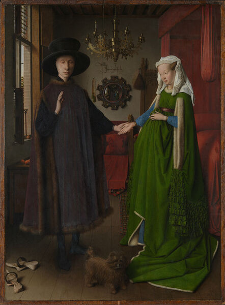 Jan van Eyck, 'Portrait of Giovanni(?) Arnolfini and his Wife (The Arnolfini Portrait)', 1434