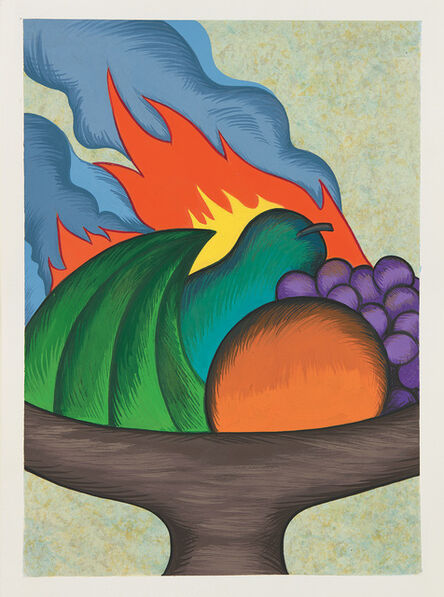 Julie Curtiss, 'Fruit bowl on fire', 2015