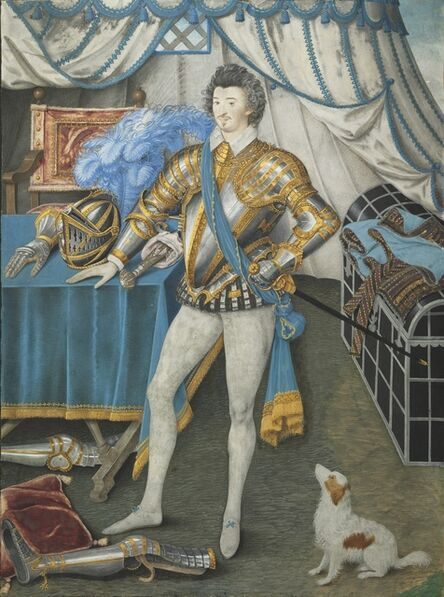 Nicholas Hilliard, 'Portrait of Sir Anthony Mildmay, Knight of Apethorpe, Northants', c. 1590-1593