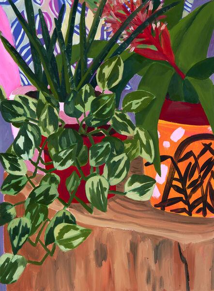 Anna Valdez, 'Plants on Log', 2019