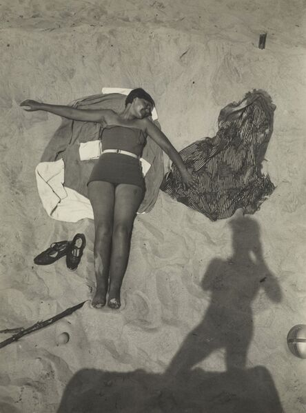 T. Lux Feininger, 'Am Strand (On the Beach)', about 1929