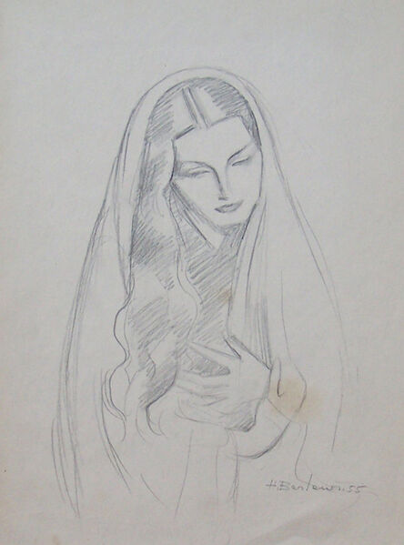 Henryk Berlewi, 'Woman with Long Hair', 1955