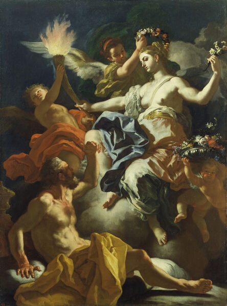 Francesco Solimena, 'Aurora Taking Leave of Tithonus', 1704
