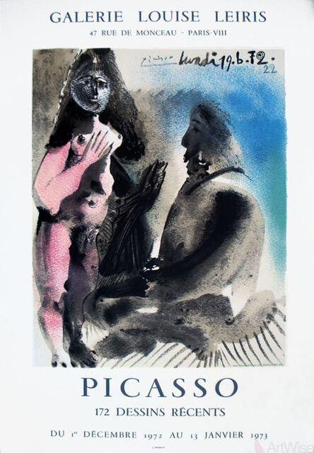 Pablo Picasso-172 Dessins Recents-1972 Mourlot Lithograph