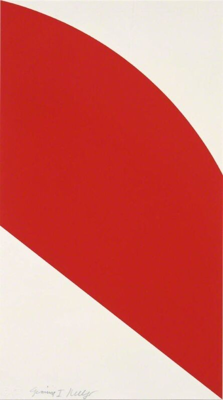 Ellsworth Kelly, 'Red Curve', 2006, Print, 1-color lithograph, Upsilon Gallery