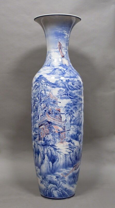 Bui Cong Khanh, 'Fortress Temple. The Story of Blue, White and Red 1', 2013, Sculpture, Porcelain, hand-painted underglaze blue and red, 10 Chancery Lane Gallery