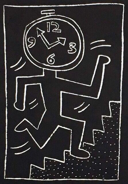 Keith HARING Future Primeval Subway Drawings Original 1990 Poster