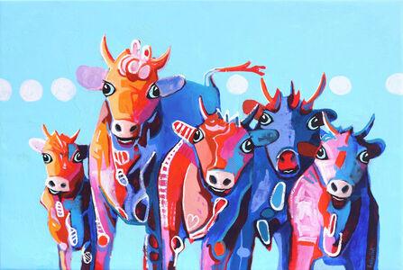 Fredi Gertsch, 'Red Gang Girls Feeling Blue', 2019