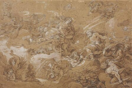 Michel Corneille II, 'Juno asking Aeolus to release the winds'