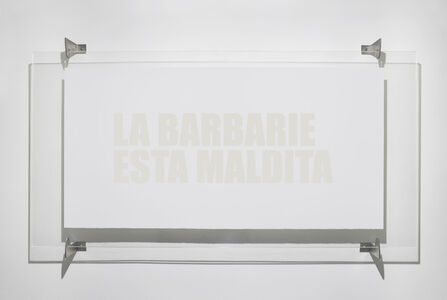 Cristina Piffer, 'Barbarism is cursed | La barbarie está maldita', 2016