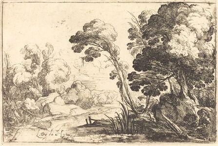 Laurent de La Hyre, 'Wooded Landscape with a River', 1640