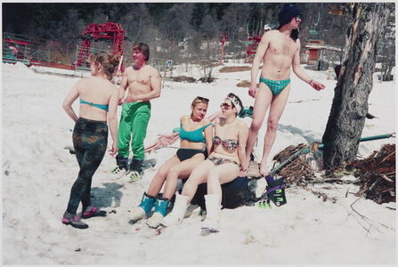 Bertien van Manen, 'Skiing in Caucasus, Georgia', 1993