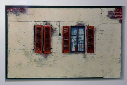 Guenther Riess, 'Texture Study - Orange Shutters', 2000