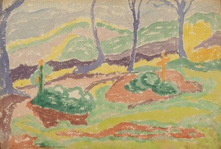 Janós Mattis Teutsch, 'The Cemetery', 1916 ca.