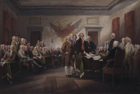John Trumbull, 'The Declaration of Independence, July 1776', 1786-1820