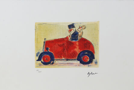 Franz Borghese, 'Bolide Rosso (Red Super Car)', 1980s