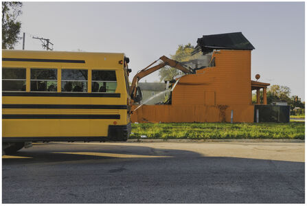Amanda Williams, 'Color(ed) Theory series: Flamin' Red Hots (Demolition Bus)', 2018
