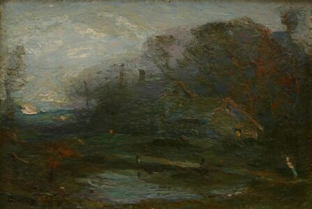 Charles Melville Dewey, 'Rouch House at Twilight', ca. 1910