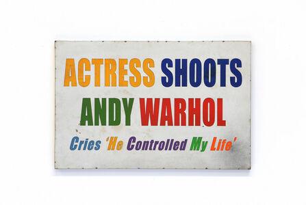 David Buckingham, 'Actress Shoots Warhol', 2019