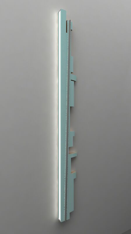 Shi Yong, ' Resolve Everything Using Beautiful Form--00B', 2015, Installation, Pine, Nitrocellulose Lacquer, Brushed Stainless Steel, Aluminum Strips, Screen Print, ShanghART