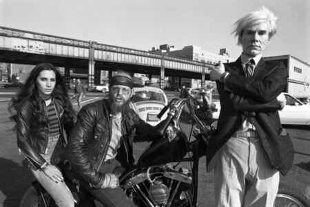 Christopher Makos, 'Andy with bikers', 1981