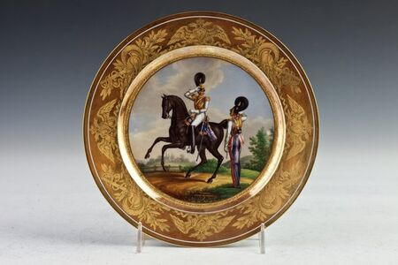 Imperial Porcelain Factory, 'Military Plate', 1834