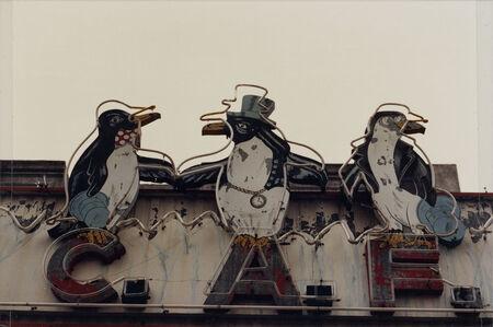 "Facundo de Zuviría, 'From the series ""Estampas Porteñas"", ""Three penguins, Mataderos""', 1987"