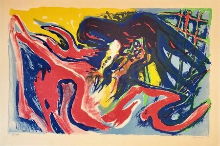 Edouard Pignon, 'Grand combat de coqs ', 1971