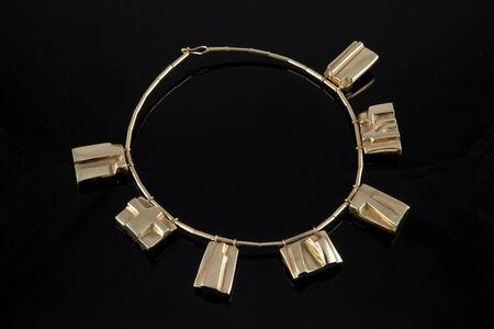 """Parvine Curie, '""""Colerette"""" gold pendant necklace', 1990s"""