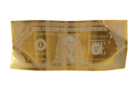 Karl Lagasse, 'One Dollar - Gold- Small Size', 2020