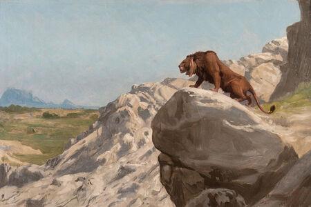 Jean-Léon Gérôme, 'Lion aux Aguets ', 1924-1904
