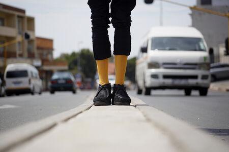 Thusi Vukani & Sparks Napoli, 'Eskhaleni: In the Space (Yellow Socks)', 2019