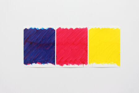 Stephen Prina, 'Blind No. 15 Preparatory Drawing (Primary Magenta/Phthalo Blue (Red Shade)/Hansa Yellow Opaque/Primary Yellow)', 2011
