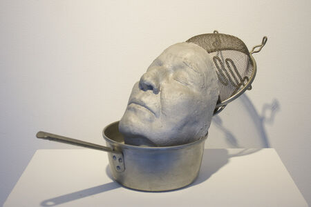 May Wilson, 'Untitled (Silver saucepan with cast self-portrait)', n.d.