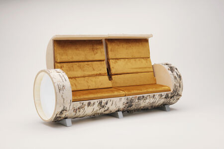 Carlo Sampietro, 'Cloche Sofa birch 2  opening model'