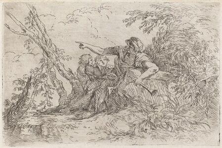 Salvator Rosa, 'Shepherd in a Landscape', ca. 1660/1661